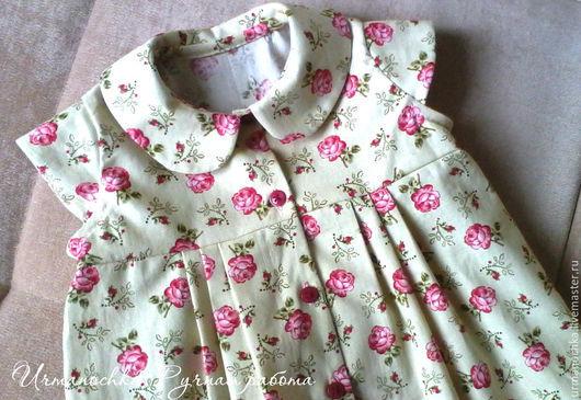 """Одежда для девочек, ручной работы. Ярмарка Мастеров - ручная работа. Купить Платье для девочки """" Милые розочки"""". Handmade."""