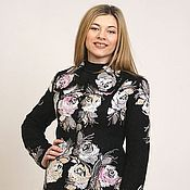 """Одежда ручной работы. Ярмарка Мастеров - ручная работа Жакет шерстяной """"Пыльные розы"""". Handmade."""