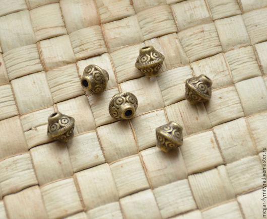 Для украшений ручной работы. Ярмарка Мастеров - ручная работа. Купить Фонарик бусина. Handmade. Хаки, бронзовый, материалы для творчества