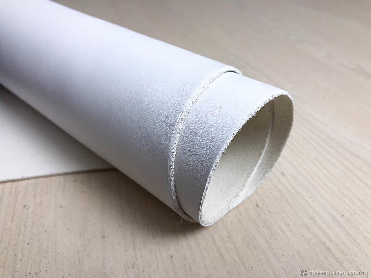 Натуральная кожа 1.5 мм White, Кожа, Оренбург,  Фото №1