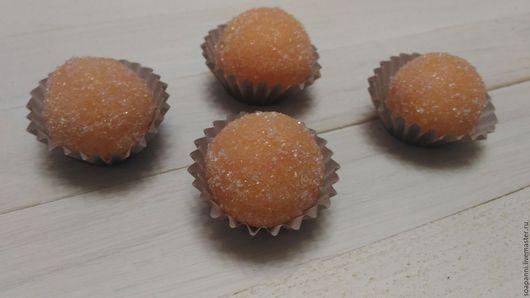 Скраб ручной работы. Ярмарка Мастеров - ручная работа. Купить Сахарный скраб цитрусовый (конфетка). Handmade. Оранжевый, скраб для рук