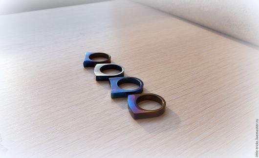 Кольца ручной работы. Ярмарка Мастеров - ручная работа. Купить Кольца Convexity-concavity  (анодированный титан). Handmade. Кольцо