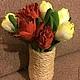 Цветы ручной работы. Букет тюльпанов из фоамирана. Автор Дубровина Ольга.