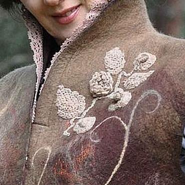 """Одежда ручной работы. Ярмарка Мастеров - ручная работа Жилет """" Лакомилась осень шоколадом"""". Handmade."""