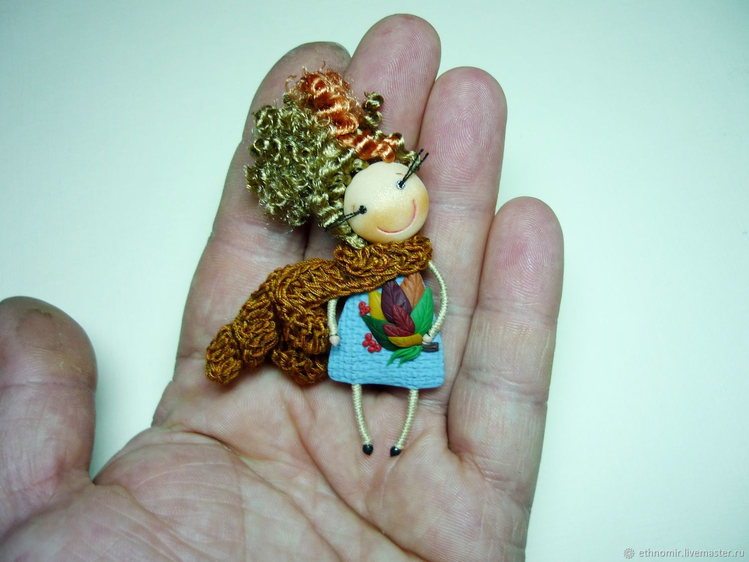 brooch - girl 'Bouquet of Autumn', Brooches, Irbit,  Фото №1