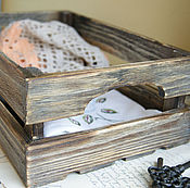 Для дома и интерьера ручной работы. Ярмарка Мастеров - ручная работа Обожженный временем. Ящик. Handmade.