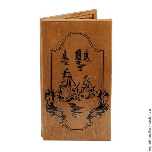 Подарки для мужчин, ручной работы. Ярмарка Мастеров - ручная работа. Купить Нарды Корабль. Handmade. Нарды, нарды в подарок