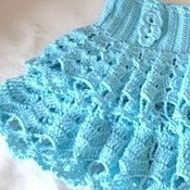 Работы для детей, handmade. Livemaster - original item SKIRT FOR GIRL WITH RUFFLE knitted openwork summer. Handmade.