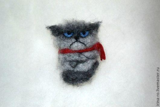 """Броши ручной работы. Ярмарка Мастеров - ручная работа. Купить Брошка """"Grumpy cat"""". Handmade. Grumpy cat, брошка кот"""