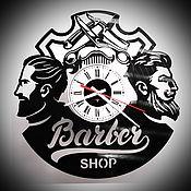 "Для дома и интерьера handmade. Livemaster - original item Wall clock ""Barber Shop"". Handmade."