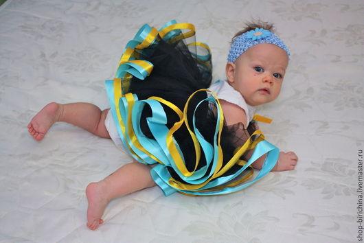 Одежда для девочек, ручной работы. Ярмарка Мастеров - ручная работа. Купить Волшебная юбочка из фатина -2. Handmade. Синий