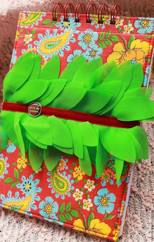 Персональные подарки ручной работы. Ярмарка Мастеров - ручная работа. Купить Блокнот  на пружине Ранняя Весна. Handmade. комбинированный, картон