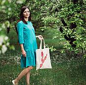 Сумки и аксессуары ручной работы. Ярмарка Мастеров - ручная работа Эко-сумка Цветы вишни. Handmade.