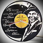 "Для дома и интерьера handmade. Livemaster - original item Original gift, wall clock ""Frank Sinatra"" made of vinyl. Handmade."
