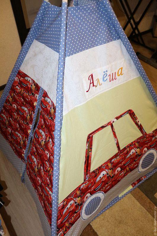 """Детская ручной работы. Ярмарка Мастеров - ручная работа. Купить Вигвам для детей """"Тачки"""". Handmade. Вигвам, дети, детская комната"""