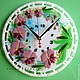Clocks for Home handmade. Livemaster - handmade. Buy watch glass, fusing Orchid.Watch, orchid, lily gorbach