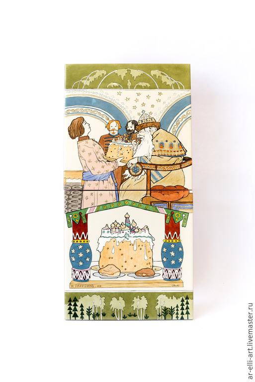 """Люди, ручной работы. Ярмарка Мастеров - ручная работа. Купить Панно на керамической плитке """"Царь"""". Handmade. Разноцветный, ручная роспись"""