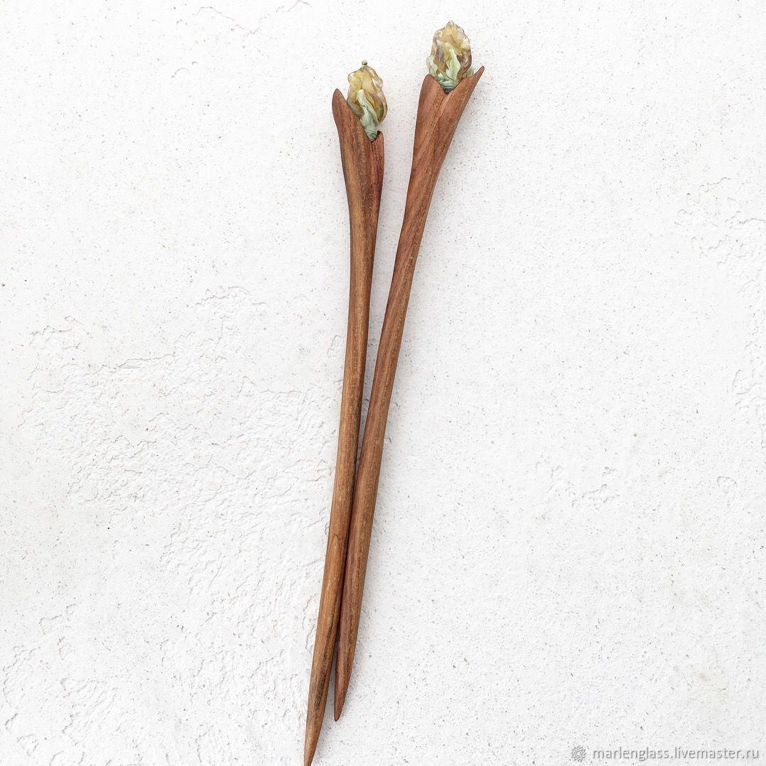 befc3b6368a3 Палочки для волос комплект - Тюльпаны – купить в интернет-магазине на  Ярмарке ...