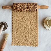 Для дома и интерьера handmade. Livemaster - original item DEER and HOLLY - Engraved rolling pin Texturra. Handmade.