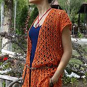 Одежда handmade. Livemaster - original item Women`s summer vest with fringe