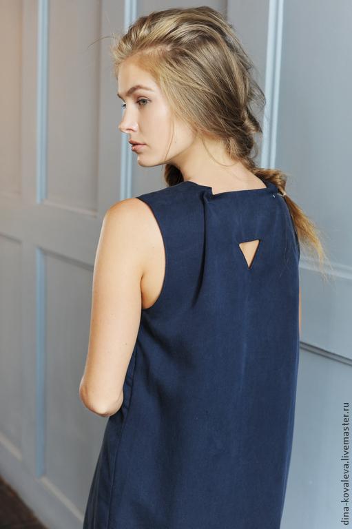 Платья ручной работы. Ярмарка Мастеров - ручная работа. Купить Платье Геометрия. Handmade. Тёмно-синий, синий, сарафан