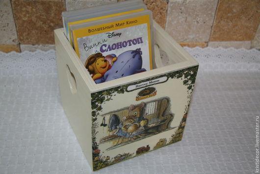 """Детская ручной работы. Ярмарка Мастеров - ручная работа. Купить Короб для CD-дисков """"Спи моя радость, усни"""". Handmade."""