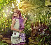 Одежда ручной работы. Ярмарка Мастеров - ручная работа Платье и сумочка Сирень. Handmade.