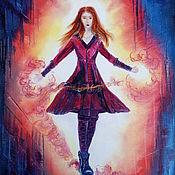 Картины и панно handmade. Livemaster - original item Painting the scarlet witch. Handmade.