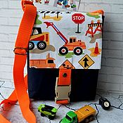 Работы для детей, handmade. Livemaster - original item Bag for a boy