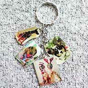 Аксессуары handmade. Livemaster - original item Keychain, Christmas dogs. Handmade.