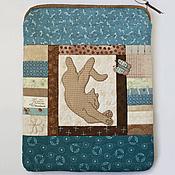 "Сумки и аксессуары handmade. Livemaster - original item Cover for iPad ""Cat and Butterfly"" made of fabric with applique. Handmade."