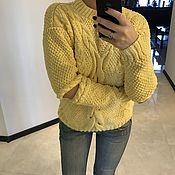 Одежда handmade. Livemaster - original item Original sweater with slits on the elbows. Handmade.