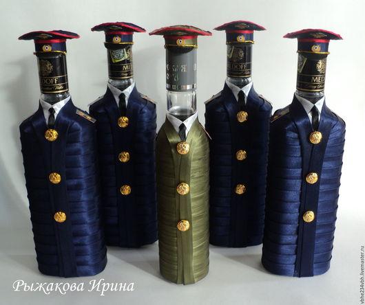 Подарочное оформление бутылок ручной работы. Ярмарка Мастеров - ручная работа. Купить Оформление бутылок. Handmade. Бутылка, бутылка