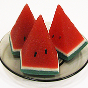 Косметика ручной работы handmade. Livemaster - original item Soap Slice of watermelon. Handmade.