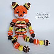 Куклы и игрушки handmade. Livemaster - original item Fox round With beads crochet toy. Handmade.