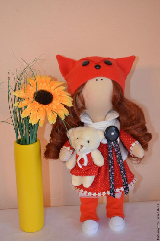 Коллекционные куклы ручной работы. Ярмарка Мастеров - ручная работа. Купить Лисичка Куклы ручной работы на заказ. Handmade.