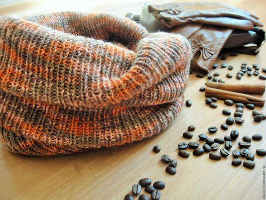 Шарфы и шарфики ручной работы. Ярмарка Мастеров - ручная работа. Купить '' ЛИСТОПАД'' - вязаный снуд в два оборота. Handmade.