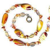 Украшения handmade. Livemaster - original item beads carnelian jasper 60 cm long natural stone. Handmade.