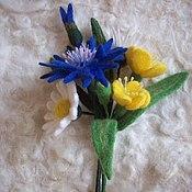 """Подарки к праздникам ручной работы. Ярмарка Мастеров - ручная работа Брошь """"Полевые цветы"""". Handmade."""