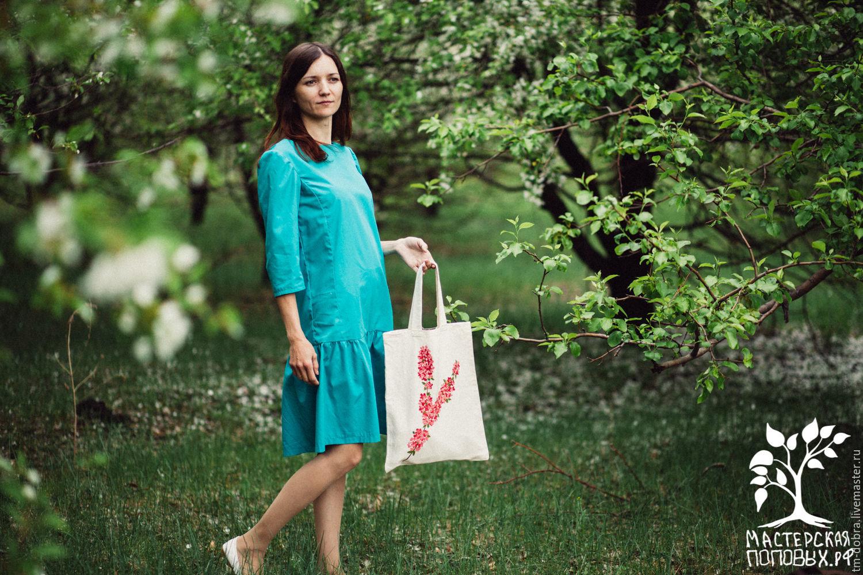 Сумка Цветы вишни эко сумка Пакет, Женские сумки, Абакан, Фото №1