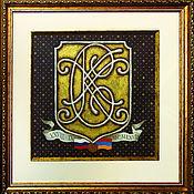 Картины и панно ручной работы. Ярмарка Мастеров - ручная работа Мужские монограммы в гербовом картуше. Handmade.