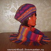 Аксессуары ручной работы. Ярмарка Мастеров - ручная работа Комплект:  берет  и  шарф - воротник. Handmade.