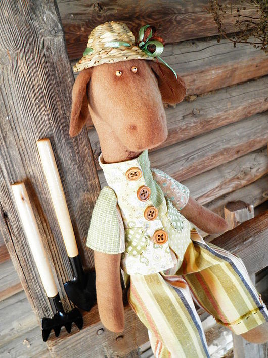 Игрушки животные, ручной работы. Ярмарка Мастеров - ручная работа. Купить дачник Степа,интерьерная игрушка жираф.. Handmade. Животные
