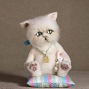 Войлочная игрушка ручной работы. Ярмарка Мастеров - ручная работа Войлочная игрушка: Персидский кот. Handmade.