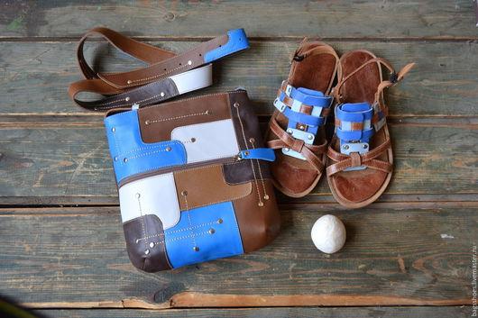 """Обувь ручной работы. Ярмарка Мастеров - ручная работа. Купить """"кобальтовое дерево  """" обувь +сумка. Handmade. Обувь из кожи"""