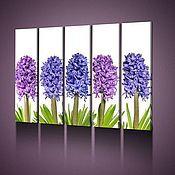 Картины и панно handmade. Livemaster - original item Flowers in purple-blue color. Handmade.