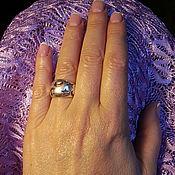 Кольца ручной работы. Ярмарка Мастеров - ручная работа Серебряное кольцо c вырубленными звёздами и полумесяцами (3). Handmade.