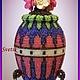 Яйца ручной работы. Ярмарка Мастеров - ручная работа. Купить шкатулка-яйцо из бисера. Handmade. Разноцветный, шкатулка для хранения
