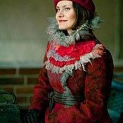 Одежда ручной работы. Ярмарка Мастеров - ручная работа Пальто валяное зимнее Марфушечка. Handmade.