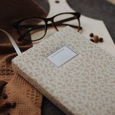 Stationery handmade. Livemaster - original item Notepad with fabric cover / A5 / Sketchbook / Diary. Handmade.
